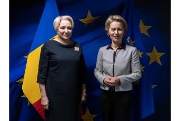 UPDATE Dăncilă, față în față cu viitorul președinte al Comisiei Europene. Ce au discutat