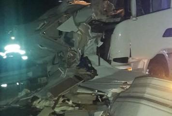 Doi bărbați uciși de un TIR, pe A1. Victimele reparau o mașină