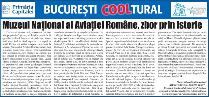 Muzeul Naţional al Aviaţiei Române, zbor prin istorie
