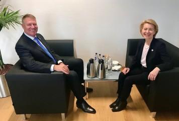 Klaus Iohannis, întâlnire cu Ursula von der Leyen