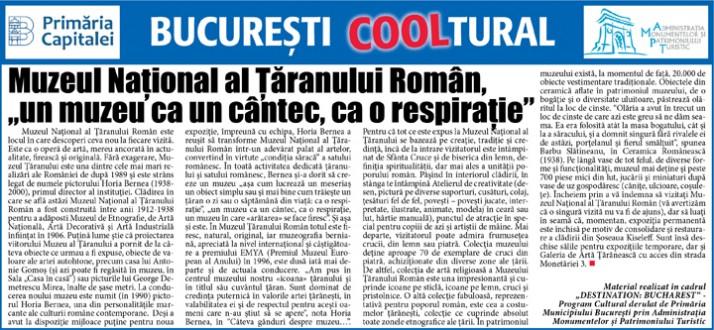 """Muzeul Naţional al Ţăranului Român, """"un muzeu ca un cântec, ca o respiraţie"""""""