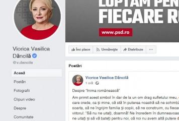 Le-a închis gura cârcotașilor: Dăncilă și-a pus numele complet pe Facebook