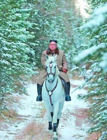 Peisaj de iarnă: dictator călare