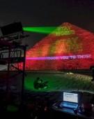 Coronavirus: Marea Piramidă din Giza, luminată cu mesaje de solidaritate
