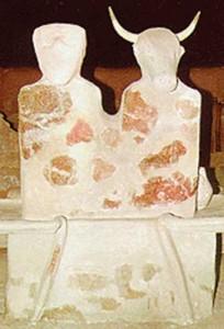 altar Parta copy1 204x300 Crucea cu raze de la Tartaria, cel mai vechi simbol religios al lumii