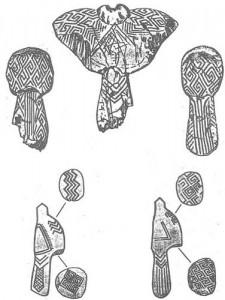 figurine mezin 225x300 Scrierea sacra a aparut in Carpati