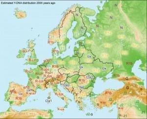 romini haplogrup copy 300x244 Istoria nestiuta a getilor si genomul european