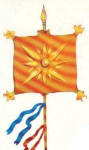 f001 Derafsh Kaviyani Original Banner Vedai Pre Avesta Era pre 728BC copy 178x300 Epopeea steagului dacic de lupta   Partea a II a