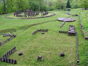 sarmisegetuza 300x225 Mai tare ca Traian: un buldozer distruge zidul Sarmisegetuzei