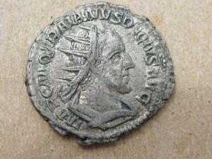 traian solarul moneda copy 300x225 Epopeea steagului dacic de lupta    Partea I