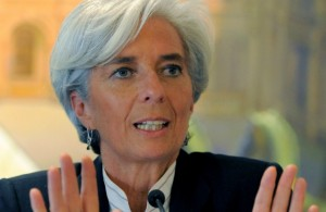 christine lagarde 1 14 11 300x195 Directorul FMI avertizeaza: Suntem amenintati de o recesiune globala!