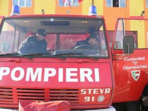 masina pompieri 300x225 Pompier mort in misiune la Baia Mare. Alti 4 au ramas prinsi intre fiarele masinii de interventie!
