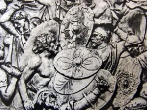 """4. scut decebal 300x225 Ritualul de nemurire al """"lupilor"""" geto daci"""