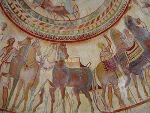 "7.tomb kazanlak2 300x225 Ritualul de nemurire al ""lupilor"" geto daci"