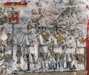 2 dura europos mitraici 300x253 Fratia cavalerilor geto daci ai lui Mitra