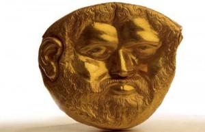 2 masca de aur colectie privata 300x193 Bulgarii au dus la Bruxelles comorile regilor geti. Noi ne ducem cu carnatii