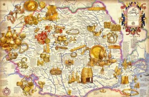 3 harta comorilor din romania 300x195 Bulgarii au dus la Bruxelles comorile regilor geti. Noi ne ducem cu carnatii