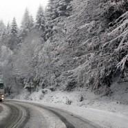 ninsoare circulatie Vremea rea le a dat batai de cap soferilor. S a intervenit pentru degajarea mai multor drumuri