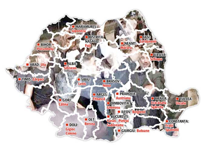 Vezi Harta Increngaturilor Clanurilor Interlope Cu Lumea Politica