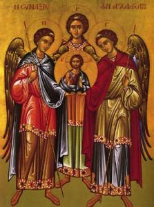sfintii mihail si gavriil 223x300 Sarbatoare mare pentru ortodocsi: Sfintii Arhangheli Mihail si Gavriil