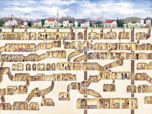 derinkuyu4 300x225 Orasele subterane ale getilor si portile spre taramul celalalt ale mayasilor