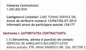 ambulanta licit 1 300x175 Fiul directorului de la Astra, contracte de 700.000 de euro cu Serviciul de Ambulanta