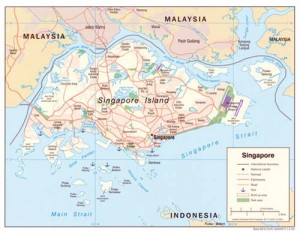 harta Singapore 300x234 Singapore, cel mai bogat oras al anului 2050