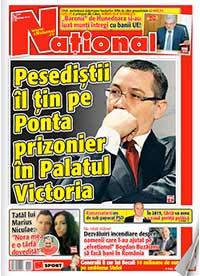 pag 1 08 12 2014 Rasfoieste editia tiparita a ziarului NATIONAL