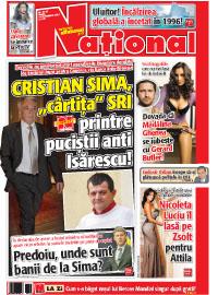 Pag 1 mic bun Rasfoieste editia tiparita a ziarului NATIONAL