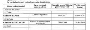 """chitoiu venituri2 300x102 Nevasta ministrului Chitoiu, in """"Caracatita asigurarilor"""""""