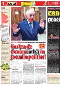 """pag02mic 211x300 Vacaroiu face """"partie"""" pentru schimbarile politice"""