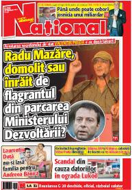 Pag 1 mic Rasfoieste editia tiparita a ziarului NATIONAL
