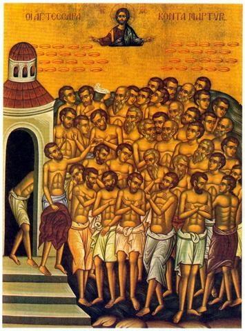 sfintii 40mucenici sevastia Sfintii 40 de Mucenici   obiceiuri si traditii