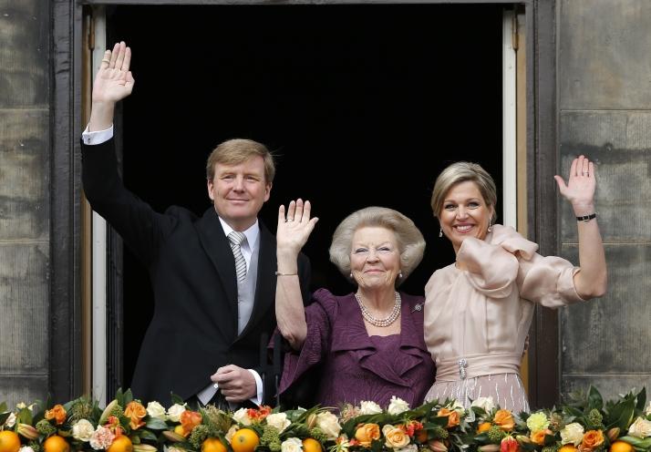 agerpres regina beatrix Moment istoric in Olanda: Regina Beatrix a abdicat. Printul Willem Alexander, intronizat rege