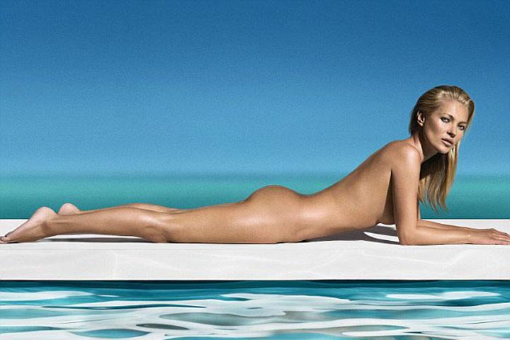 kate moss Kate Moss, goala pusca la piscina
