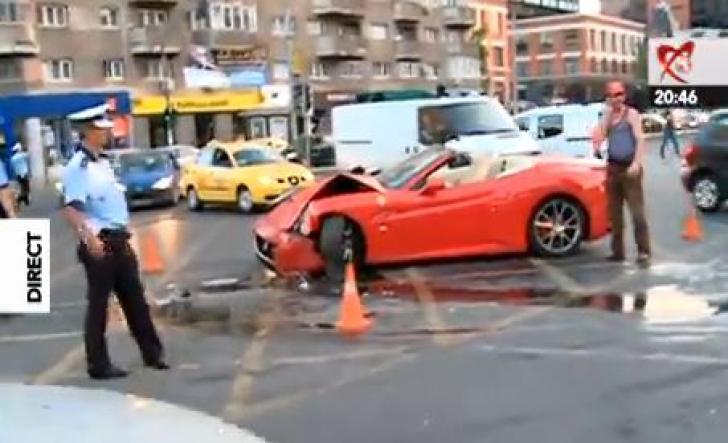 minune acc2 Adrian Minune, implicat intr un ACCIDENT RUTIER ! Ferrari ul lui, FACUT PRAF!
