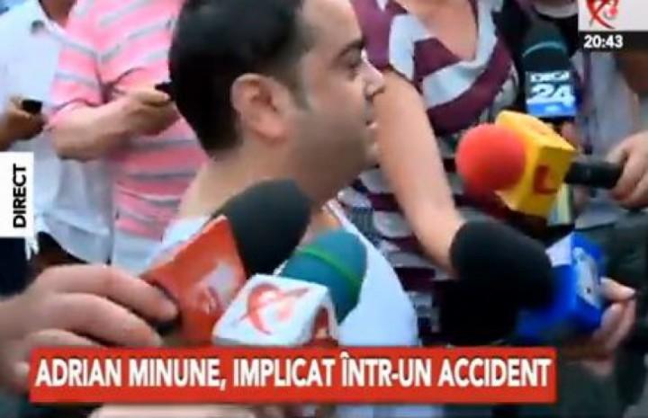 minune acc 03908900 720x465 Adrian Minune, implicat intr un ACCIDENT RUTIER ! Ferrari ul lui, FACUT PRAF!