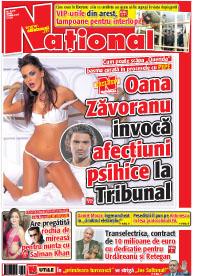 pag 01 mic1 Rasfoieste editia tiparita a ziarului NATIONAL