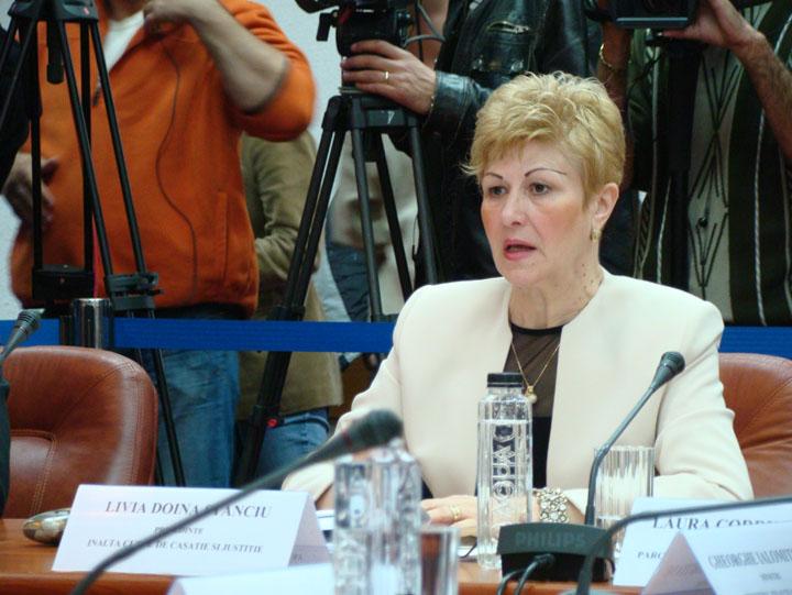 stanciu Livia Stanciu ramane pe pozitie la Curtea Suprema