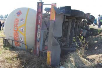 cisterna 350x234 O cisterna s a rasturnat intr un sant, in Dambovita! Totul, de la o tigara!