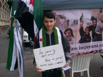 """Marinica Bedregeanu cl X Liceul Mircea Vulcanescu 350x262 Bucurestenii, implicati in campania """"Salvati copiii sirieni"""""""