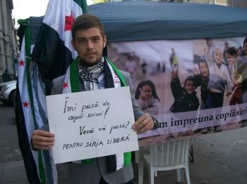 "Vlad Al Tawel clasa XII Liceul Cronos 350x262 Bucurestenii, implicati in campania ""Salvati copiii sirieni"""
