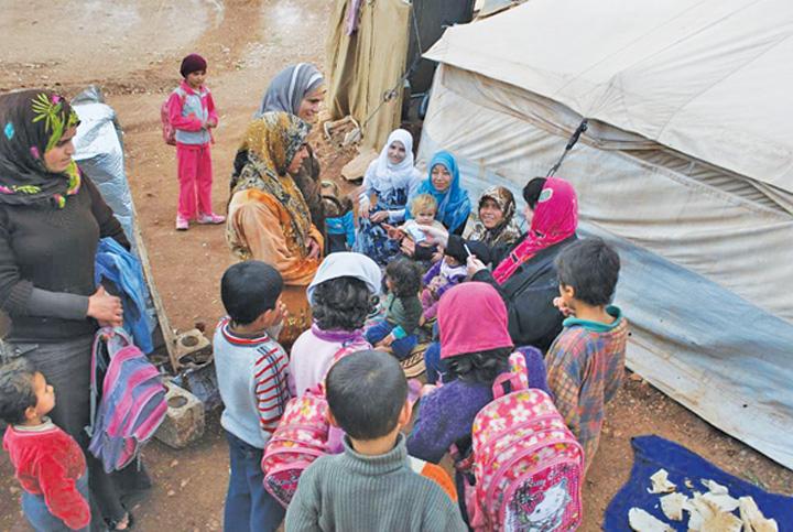 "Copiii de inconjoara imediat ""National"" si Community Aid Romania, cu ajutoare in Siria!  Tabara de refugiati Atma, ""emblema"" indiferentei internationale"
