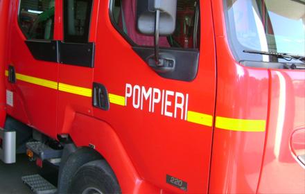 pompieri incendiu Incendiu la sediul Politiei Transporturi, de la Gara: barbat la spital, cu arsuri