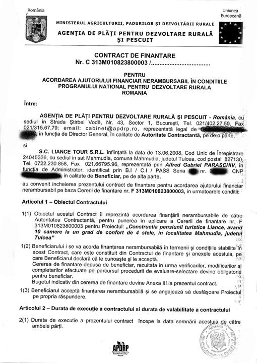Contract finantare 1 Statul roman a smenuit miliardele primite din fonduri europene la cursul de schimb!