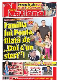 pag 01 m Rasfoieste editia tiparita a ziarului NATIONAL