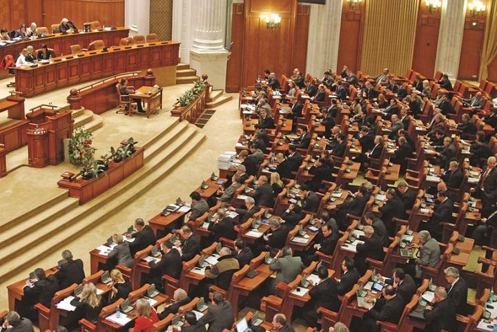 Parlament plen Narcis Pop 291 Motiunea de cenzura, prezentata parlamentarilor in sedinta comuna