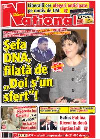 pag 01 Rasfoieste editia tiparita a ziarului NATIONAL
