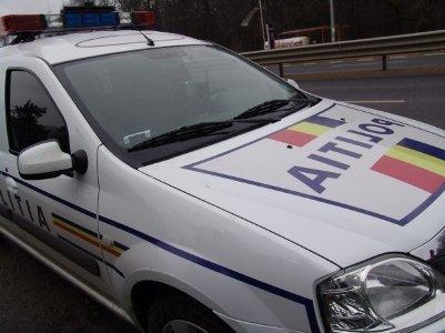 masina politie1 Jaf la o banca din Cluj