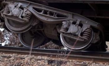 tren deraiat 350x213 Dolj. Vagoane ale unui marfar rasturnate. Traficul feroviar, blocat
